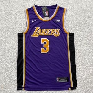 Anthony Davis Los Angeles Lakers NBA Purple Jersey